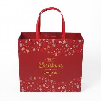 타일 패턴 반짝이 쇼핑백(18×23×10)