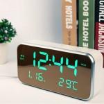 [루키] 대형 LED 직사각 미러시계