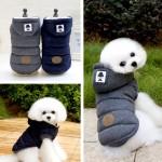 [펫스타일] 믹스 후드 점퍼/강아지 패딩/애견 겨울옷