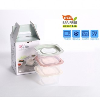 키플러스 집밥6P 밀폐용기 전자렌지사용가능