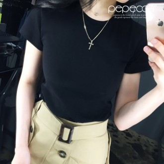 [페페코아] LE BASSON 티셔츠/이너아이템/힙라인/반팔