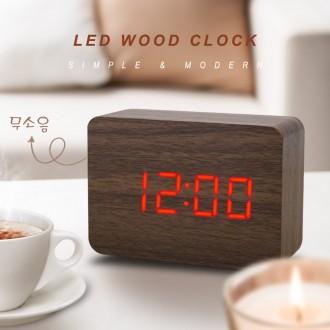 [다사와]LED 무소음 우드시계/디지털/알람/탁상/전자