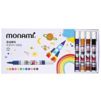 모나미 유성매직 12색세트/유성펜 매직 마카