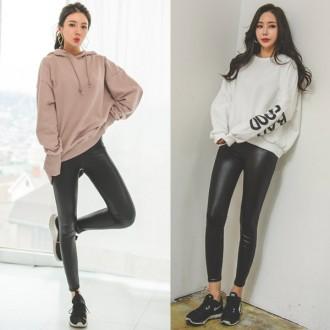 베이직레자레깅스 가죽레깅스 타이즈 패션 운동복