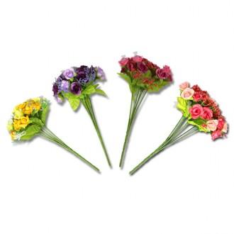 7가지 부케장미조화-N/미니장미/인테리어장식/꽃다발