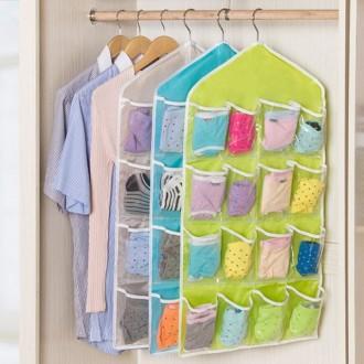 [영그린] 옷걸이형 16구 투명 속옷정리함-색상랜덤