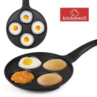 키친웰 계란후라이팬 4구 에그팬/계란팬/달걀팬