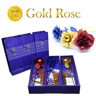 24K금장미 골드로즈 금꽃 어버이날선물 로즈데이선물