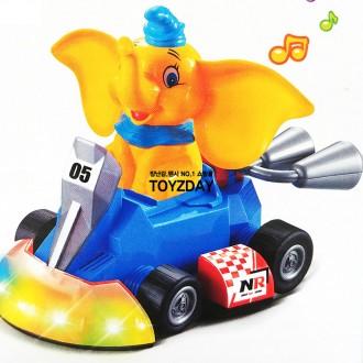 n16382/20 코끼리 불빛 사운드 자동차/작동완구 미니
