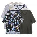 [이지빌패션]여성여름린넨브이넥티 여름