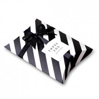 모던블랙 스트라이프 반달 상자 소 (200개)