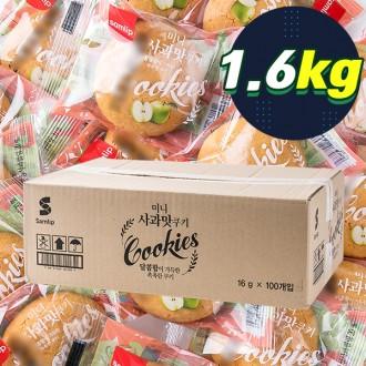 삼립 미니사과맛쿠키 16g 100입 (완박스)