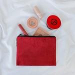 [트랜드뷰] KC인증/스웨이드파우치/화장품/동전지갑