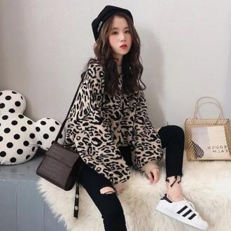 [히트패션] TOP 274 레오파트 스웨터 힙커버니트 호피