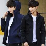 후드점퍼 잠바 겨울 털 자켓 남성 트레이닝복 세트