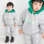 [꼬마창고]기모브라보후드세트/아동복/남여공용