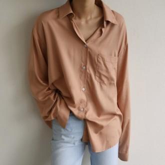 심플 베이직 루즈 셔츠 z096DU003 여성 의류 옷